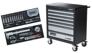 Roller cabinets, assortments and storage