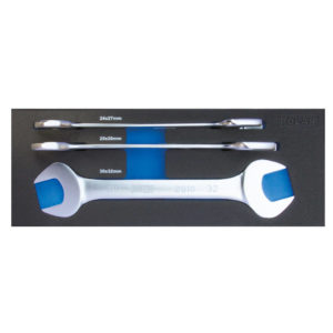 Metric double open end wrench set