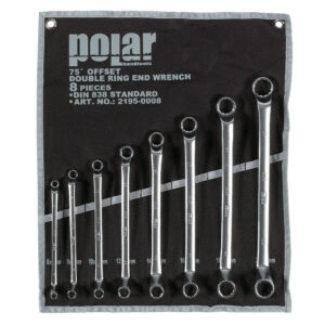 Metric double end offset ring  wrench set – 8 pcs.