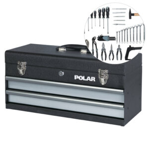 Tool box with tool assortment – 66 tools