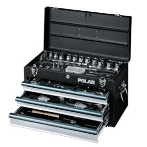 Tool box with tool assortment – 119 tools